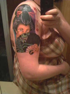 Japanese Geisha Tattoos On Shoulder Picture 4