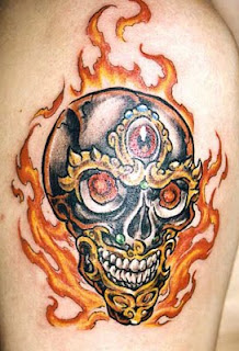 Shoulder Skull Tattoo 4