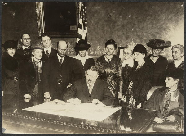 GROUP AT SIGNING