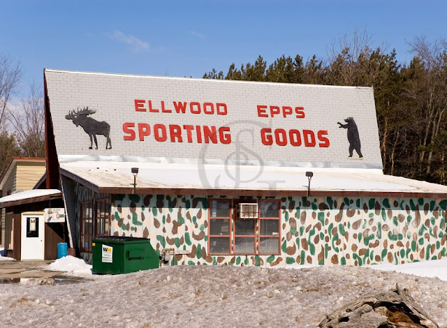 Elwood Epps sporting goods shop on Highway 11 North