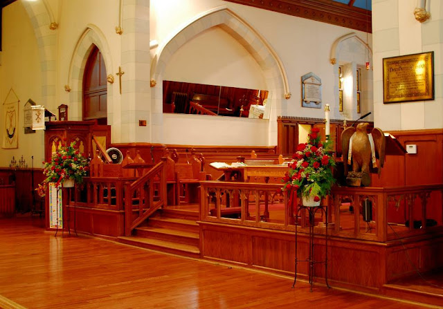 interior of the St. James Church, Orillia