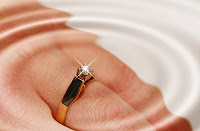 brides hand with engagement ring, copyright J. Gracey Stinson, all rights reserved