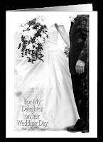 special wedding card from a father to his daughter on her wedding day