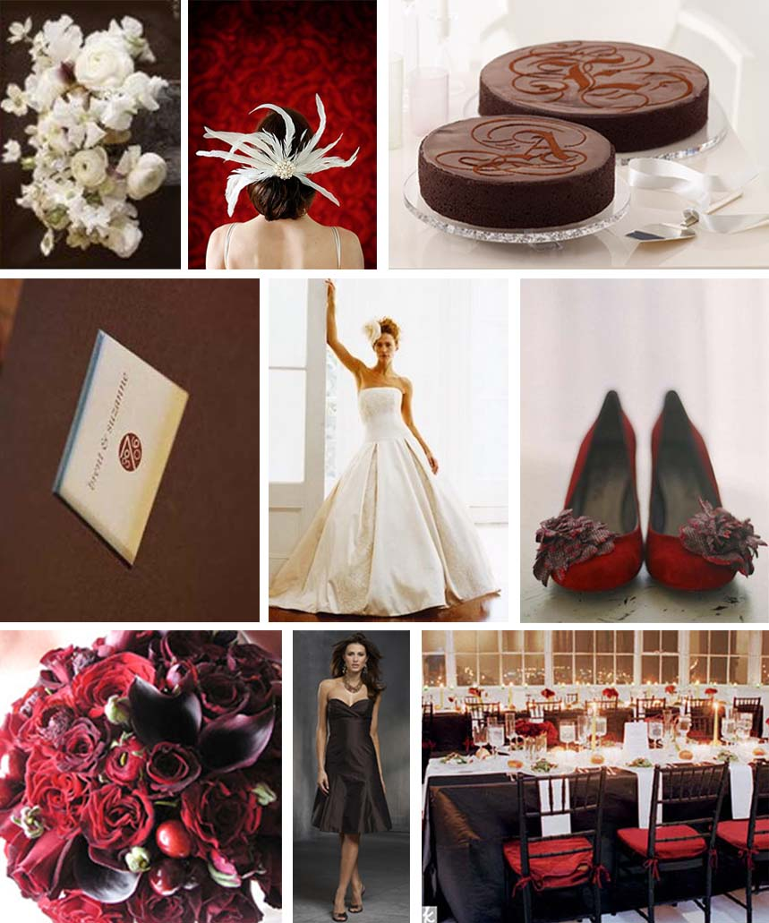 Cranberry & Chocolate inspiration Board