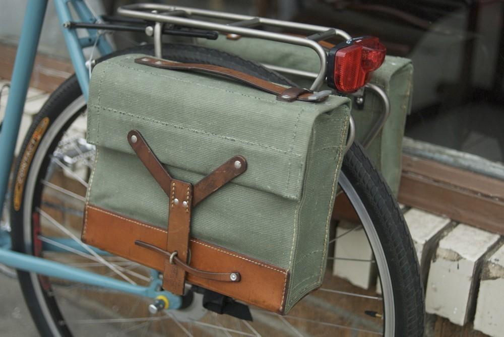 Trade brigade swiss army bicycle pannier bag