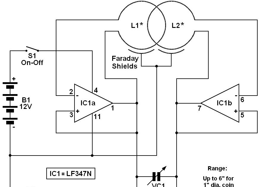 beat balance metal detector electronic circuits Schematic Diagrams Circuits Electrical Engineering Electron Diagram