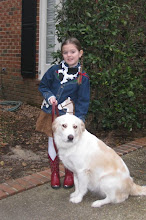 My Mags and our dog Hannah!
