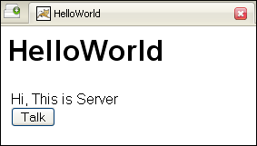 GWT HelloWorld web application output