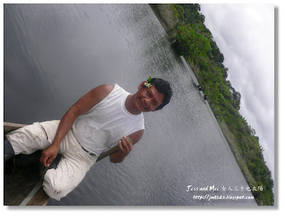 Travel guide in Amazon river in Cuyabeno reserve of Ecuador