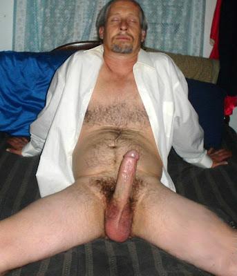 Hairy Mature Hard Cock