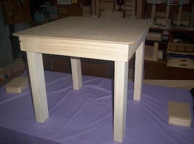 Artesanias madecris mesa madera para ni os - Mesa madera ninos ...