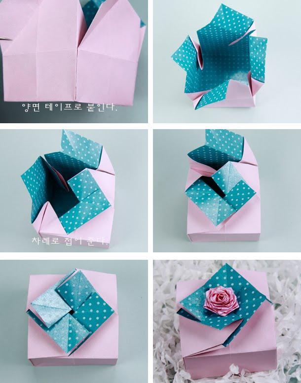 Оригами из бумаги подарок своими руками 165