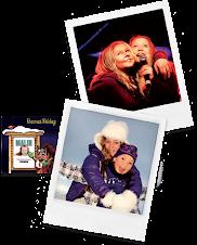BARNAS SKIDAG 2010. Malin, Celine, Lotte og meg. Les mer: Klikk på bildet!