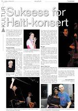 """""""Suksess for Haiti-konsert"""""""