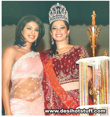 Priyanka Chopra in transparent at Miss International Beauty Pageant
