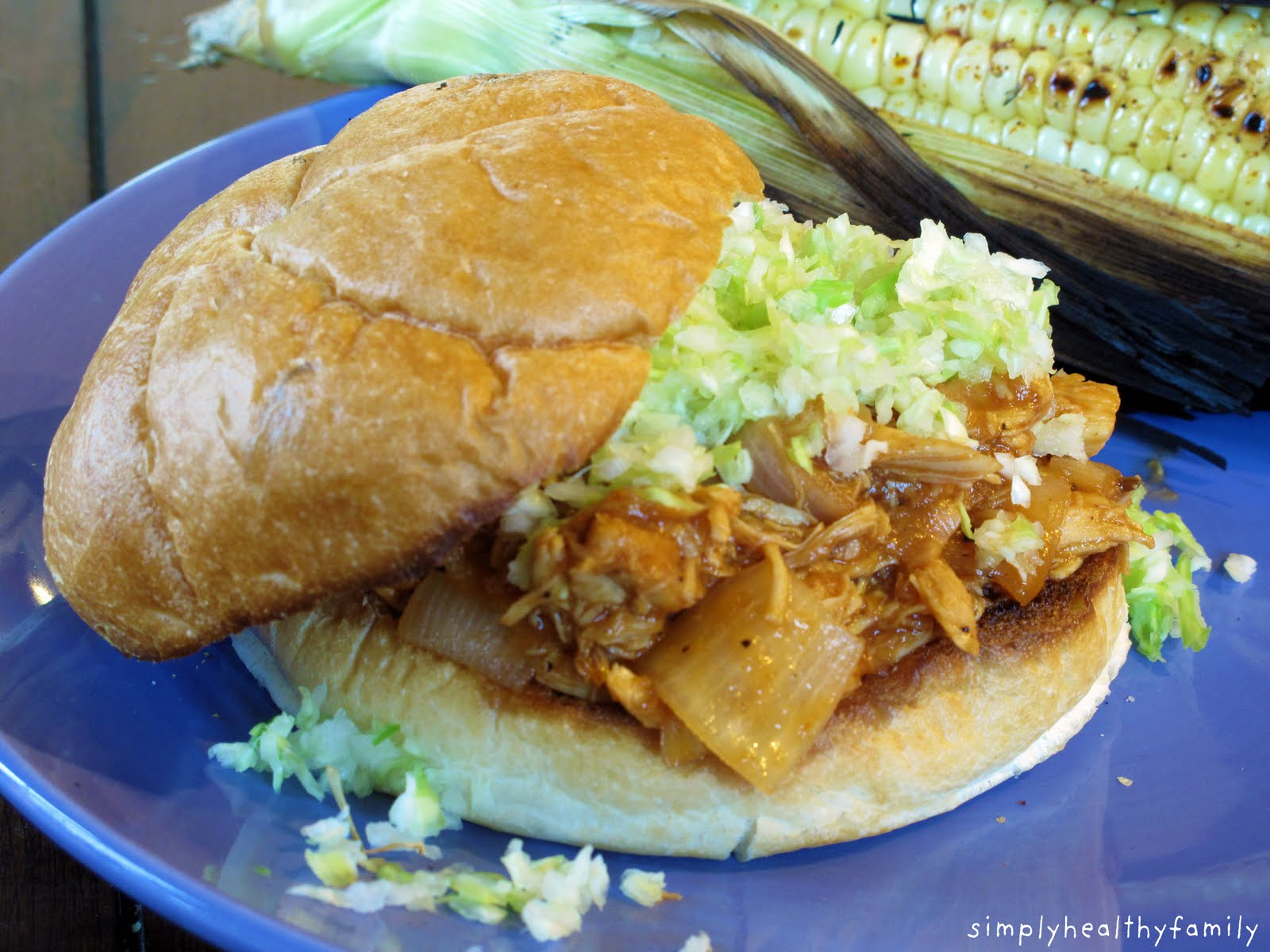 Shredded Chicken BBQ Sandwiches: How to Shred Chicken in Your Stand ...