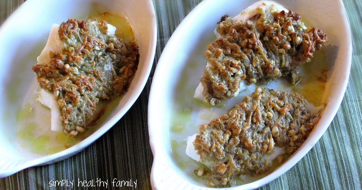 Baked Orange Roughy with Chopped Basil Pesto Crust « Healthy Food ...