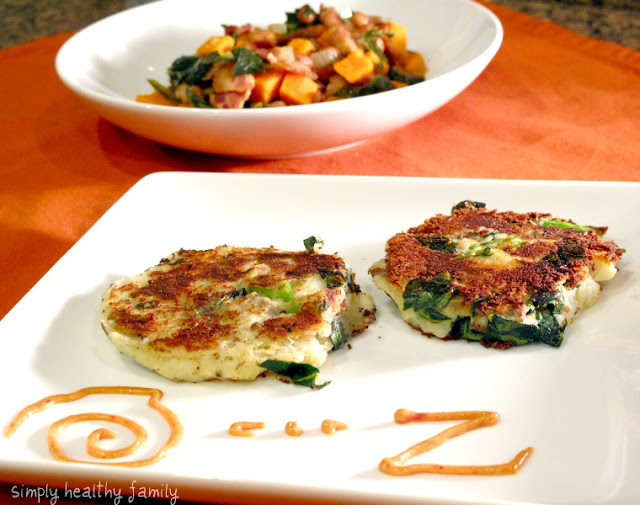 Potato-Collard Cakes with Rouille and Black Eyed Peas w Collards and ...
