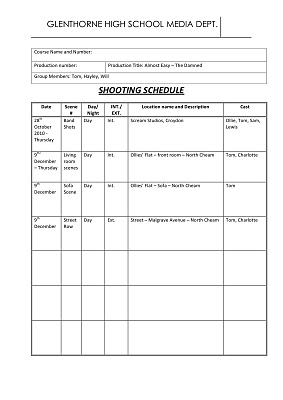 hayley cahill shooting schedule. Black Bedroom Furniture Sets. Home Design Ideas