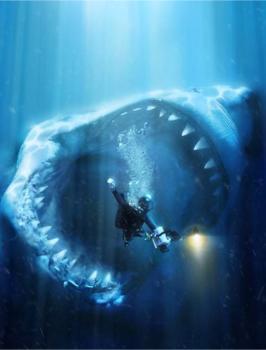 megalodon adalah spesies ikan hiu purba raksasa yang hi