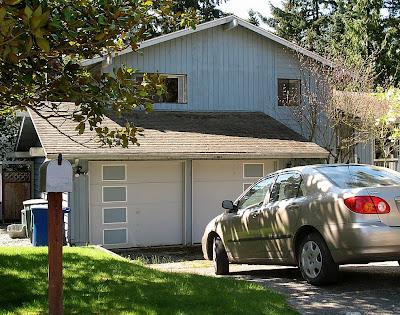 garage doors, midcentury modern, painted