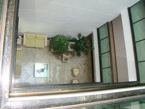 Área de circulação nos andares