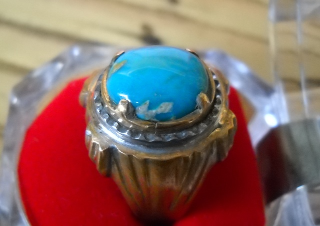 koleksi batu antik pr09 pirus keramik biru manis