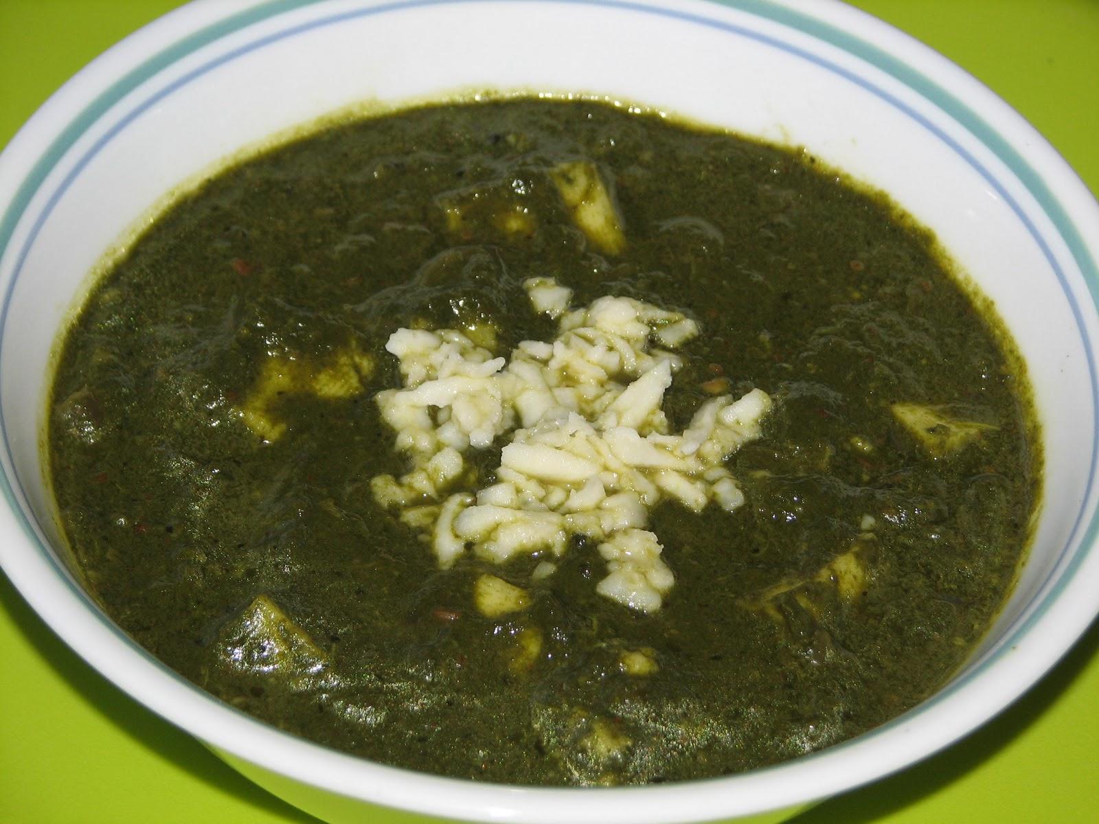 Seema's Veg Kitchen: Palak Paneer