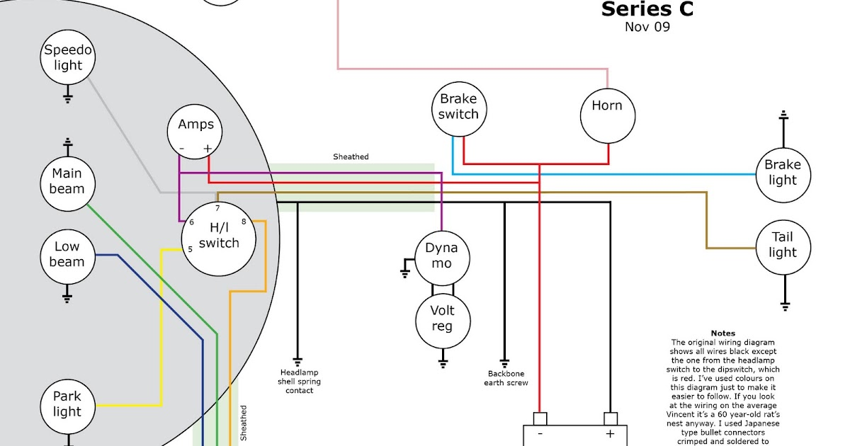 Old Bike Hack  A Vincent Series C Wiring Diagram