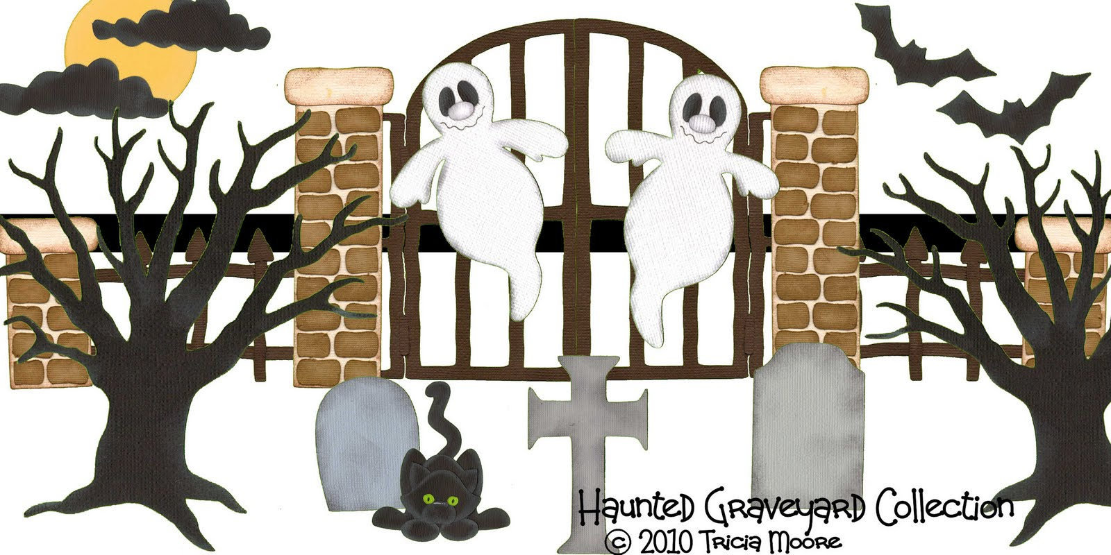 Haunted Graveyard Paper Piecing Pattern Collection