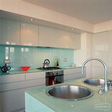 in out solid glass backsplashes are an alternative to glass tile