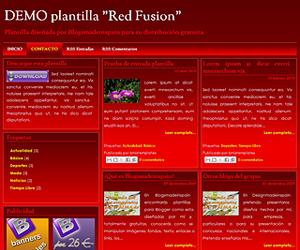 Descargar plantilla Red Fusion