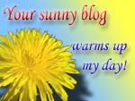My Sunny Blog Award