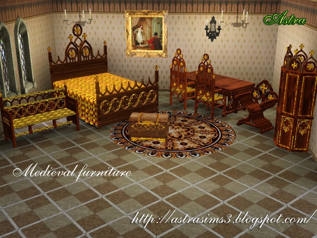 Astrasims3 everything for your sims3 medieval furniture for Medieval living room furniture