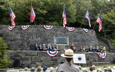 modern day interpretation of the 1940 dedication event in the Great Smoky Mountains National Park which was attended by president FDR