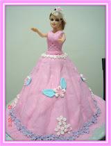 Barbie cake (fondant)