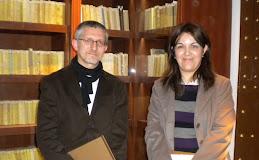 Con Pilar Vázquez Chozas