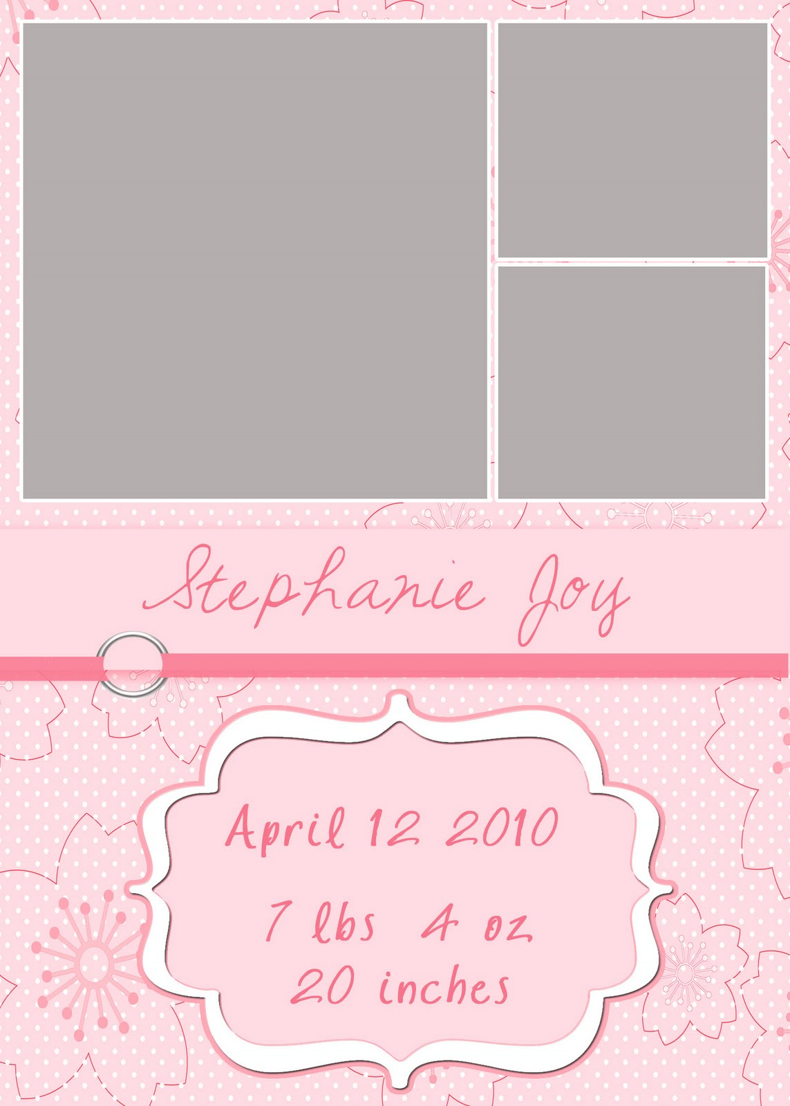 Free 5x7 baby girl announcement – Free Baby Girl Announcement Templates
