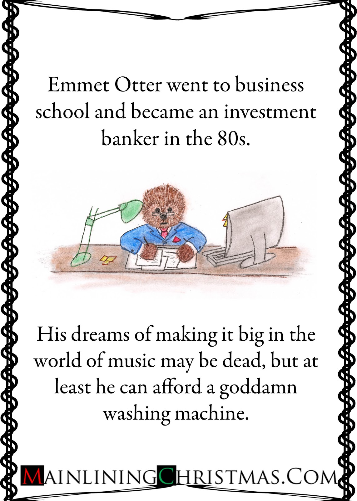 Card: Childhood Dreams and Christmas Memories