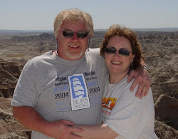 Me and my husband Dave in the Badlands of South Dakota