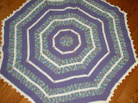 Free Crochet Pattern Octagon Baby Afghan - Crocheting Patterns