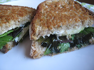 Goat Cheese, Pesto, and Green Apple Panini