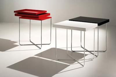 Casa inspiracion l nea auxiliar minimalista de valkit - Mesa auxiliar metacrilato ...