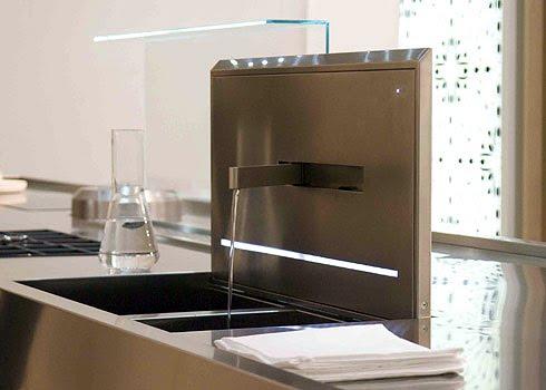 Interiores minimalistas hide sink un fregadero con grifo for Interiores minimalistas