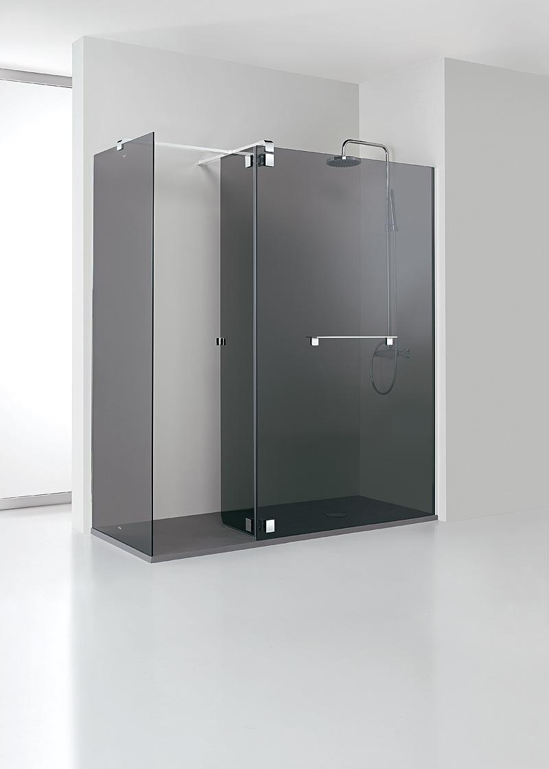 Casa inspiracion mampara minimalista para ducha de profiltek for Casa minimalista cristal