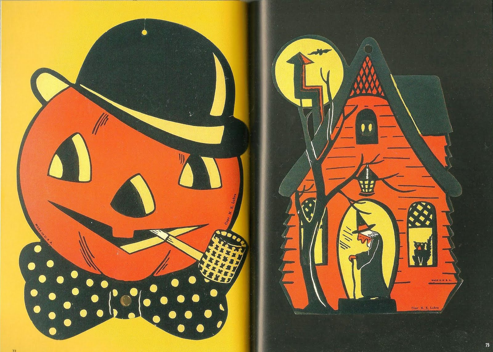1960s halloween decorations - And Paging Through The Book You May Find Artwork From Your Own Childhood Our Family Had These Very Same Cut Out Decorations