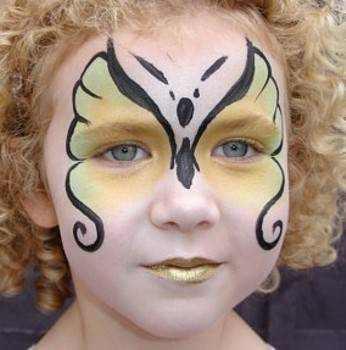 Butterfly Face Painting Designs - Body Painting TipsSimple Butterfly Face Paint