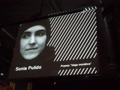 Sonia Pulido en los Premios Duende