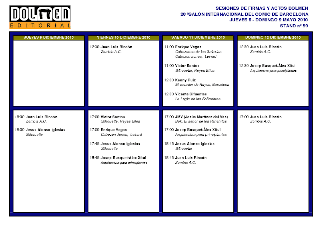 Sesiones firmas Dolmen - Expocomic