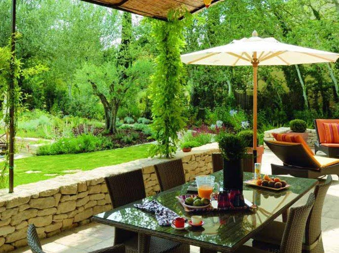 Bb id es de d co terrasse for Idee decoration jardin et terrasse